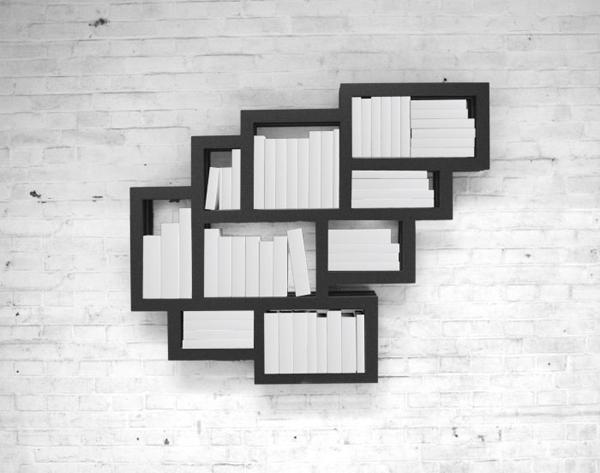 Frames Bookshelves in Wall Interior by Gerard De Hoop