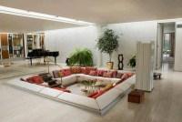 Conversation and Comfy Sunken Living Room Design | Home ...