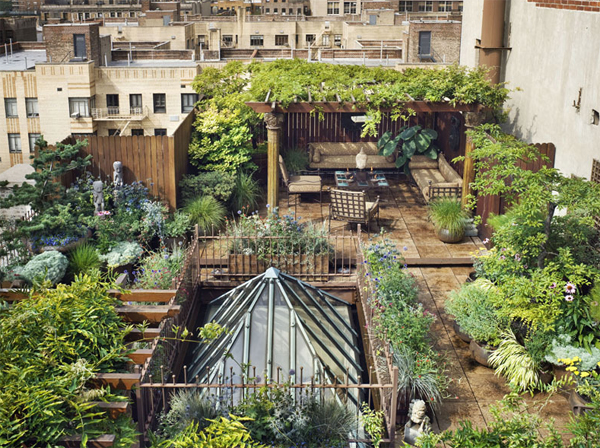 awesome rooftop gardens in duplex