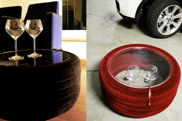Chic And Colorful Tire Table by Tavomatico  Home Design