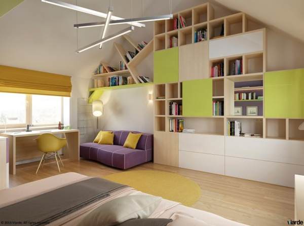 10 Cool Kids Bedrooms with Colorful Space  Home Design