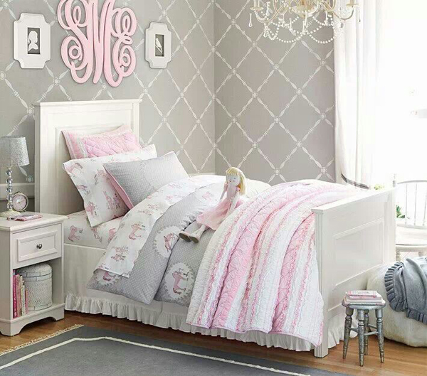 gray and pink twin girl bedroom ideas 10 Wonderful Girl Rooms   Home Design And Interior