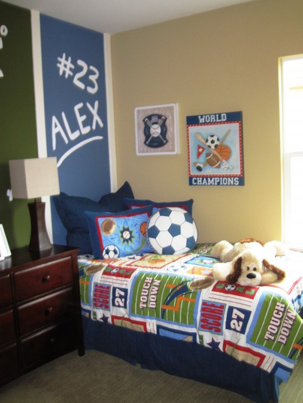 15 Awesome Kids Soccer Bedrooms Home Design And Interior