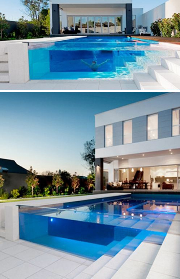 Amazing Glass Pool Wall Ideas