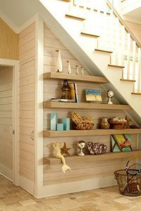 floating-shelves-under-stairs