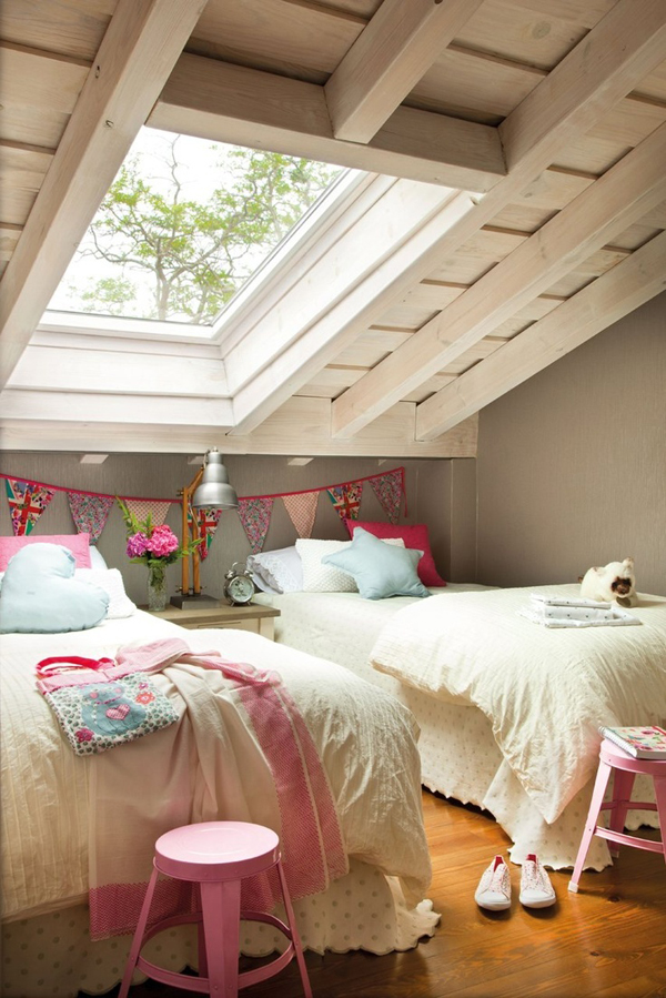 Whether you prefer barely there hues or are ready to amp up the drama in your bedroom, we have pai. girl-attic-bedrooms   HomeMydesign