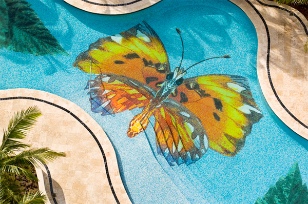 Pool With Mosaic Glass Trend Collections  Home Design And