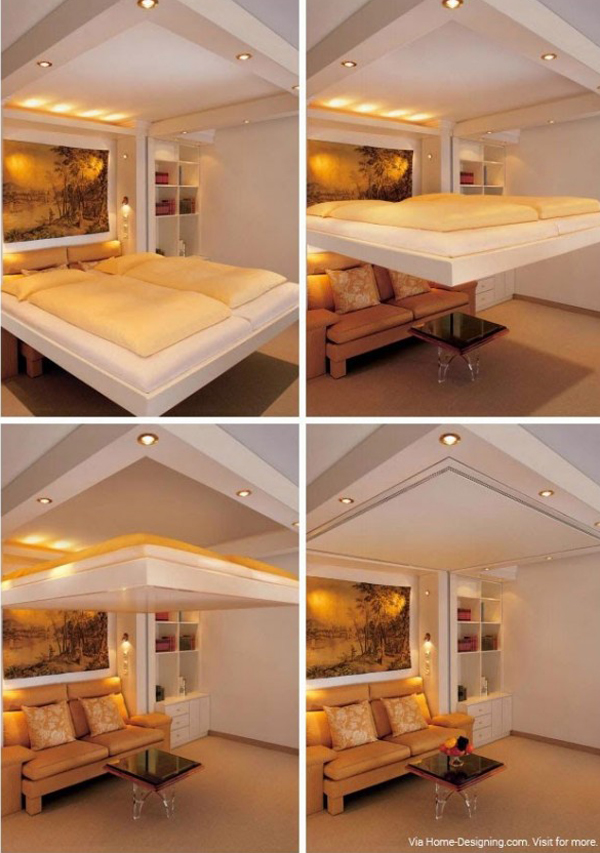 Space Saving Concealed In Ceiling Bed