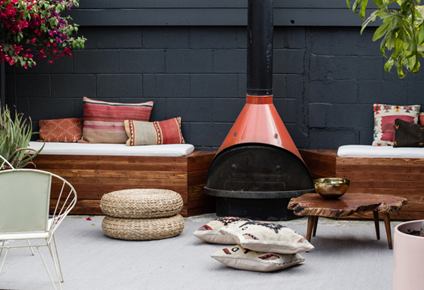 DIY Outdoor Patio Seating With Stovepipe Fireplace  Home