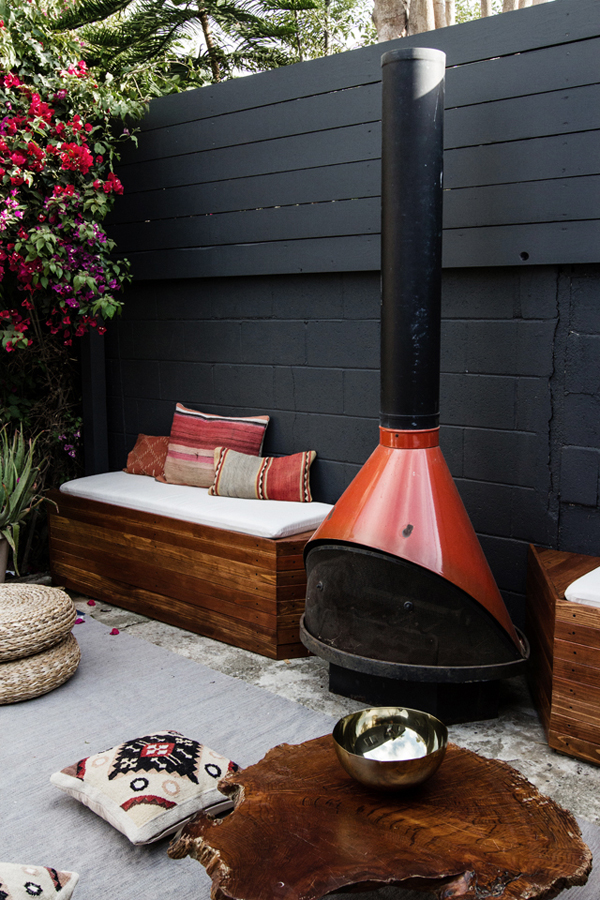 DIY Outdoor Patio Seating With Stovepipe Fireplace  Home Design And Interior