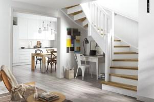 scandinavian stairs open kitchens   HomeMydesign