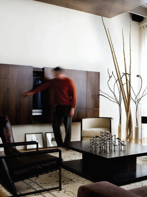 Your urban jungle interior + win a copy! hidden-tv-wall-cabinet | HomeMydesign