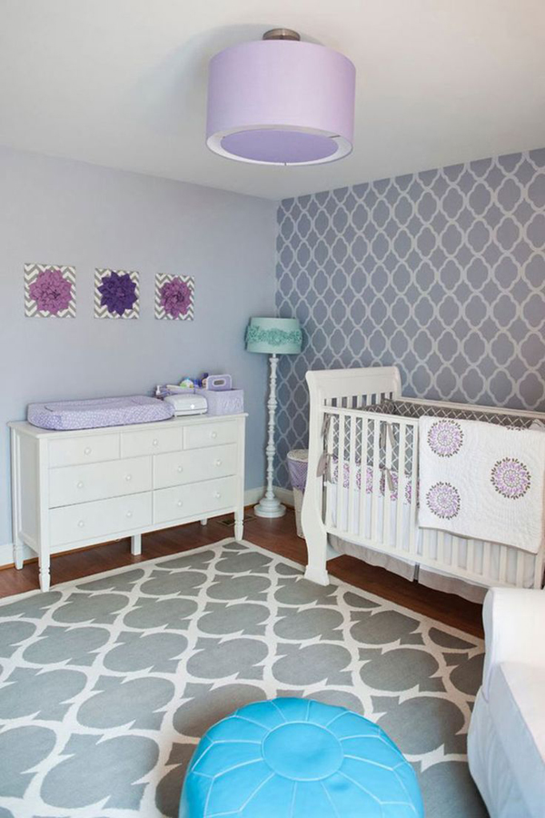 purplebabygirlnurseryroomdecoration