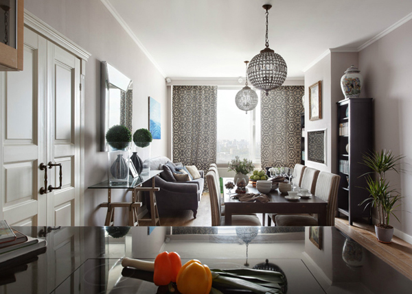 Beautiful Apartment With 100 Square Meters In Moscow  Home Design And Interior