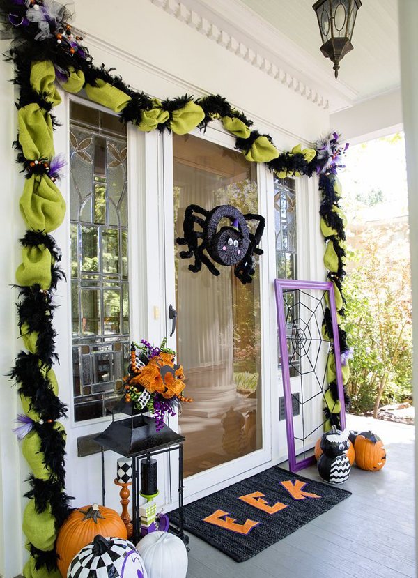 Cute Halloween Front Door Decor Ideas