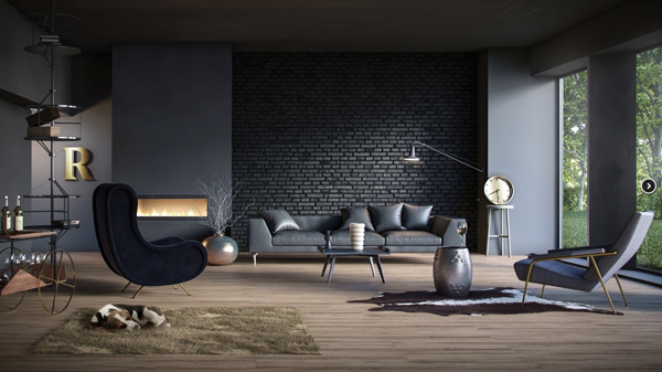 modern black living room set with sofa bed home design and interior