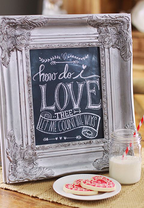 wooden signs for kitchen price to renovate 15 romantic chalkboard ideas valentine's day | home ...