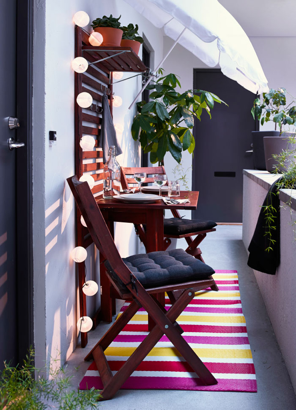 Our team of very talended designers can create a 3d visualisation of the finished project … small-balcony-design-from-IKEA | HomeMydesign