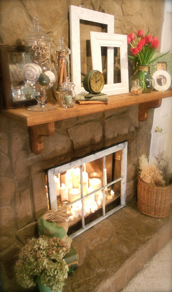 Image Result For White Birch Logs In Fireplace