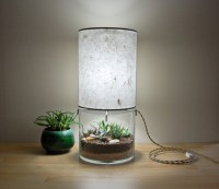 Terrarium Table Lamps With Handmade Paper Lampshade
