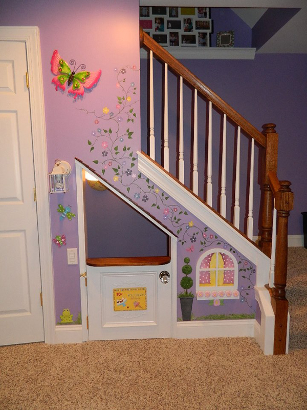 Under Stairs Kids Playhouse Murals