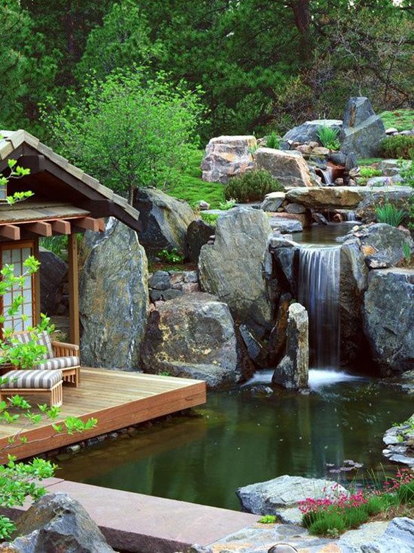 backyardwaterfallswithloungearea