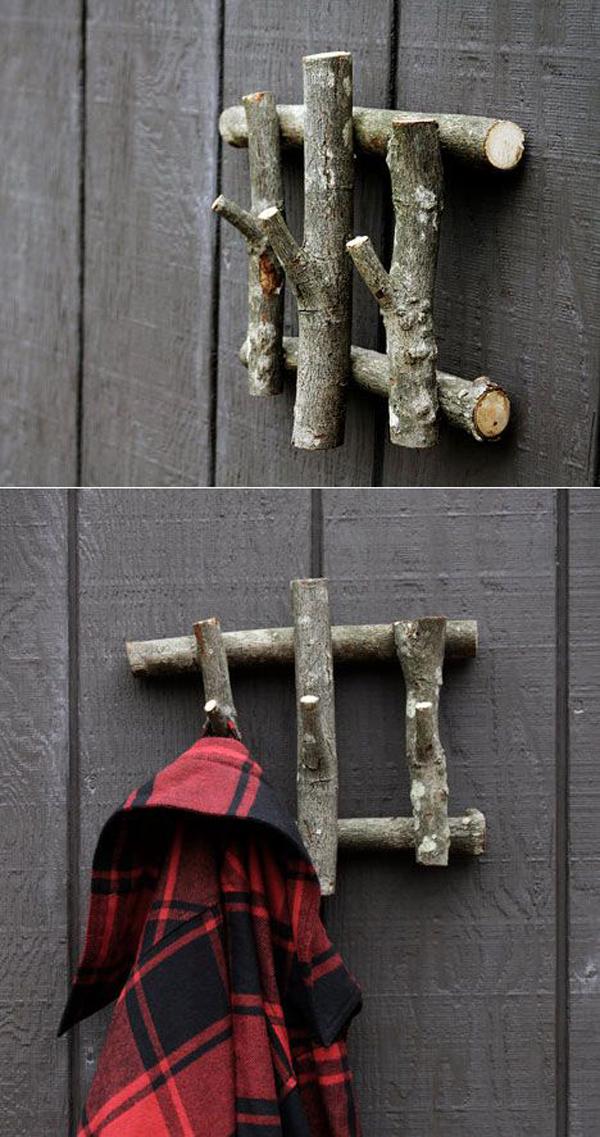 15 Cool DIY Branch Coat Racks Home Design And Interior