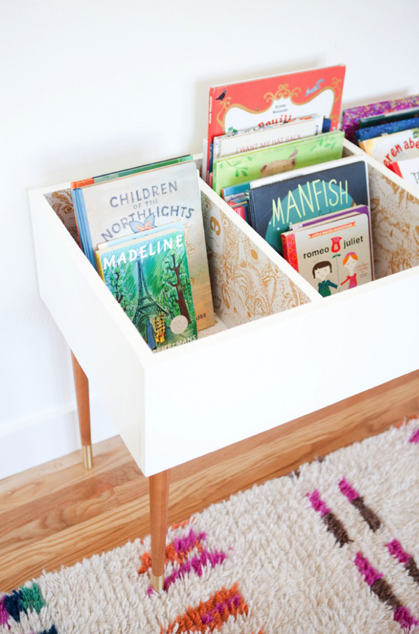 Awesome DIY Kids Book Bin Projects Home Design And Interior