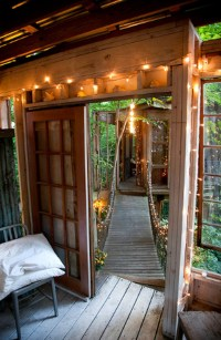Magical Treehouse With Recycled Materials