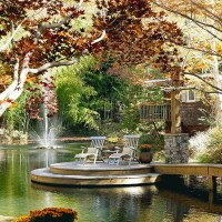 15 Pretty Garden Pond With Deck Design | Home Design And ...