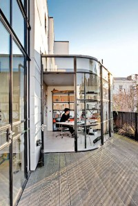 Small And Cozy Workspace At Balcony | Home Design And Interior