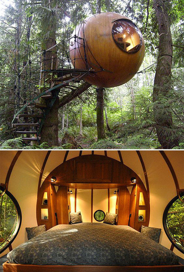 Canopy Hanging Treehouse Design