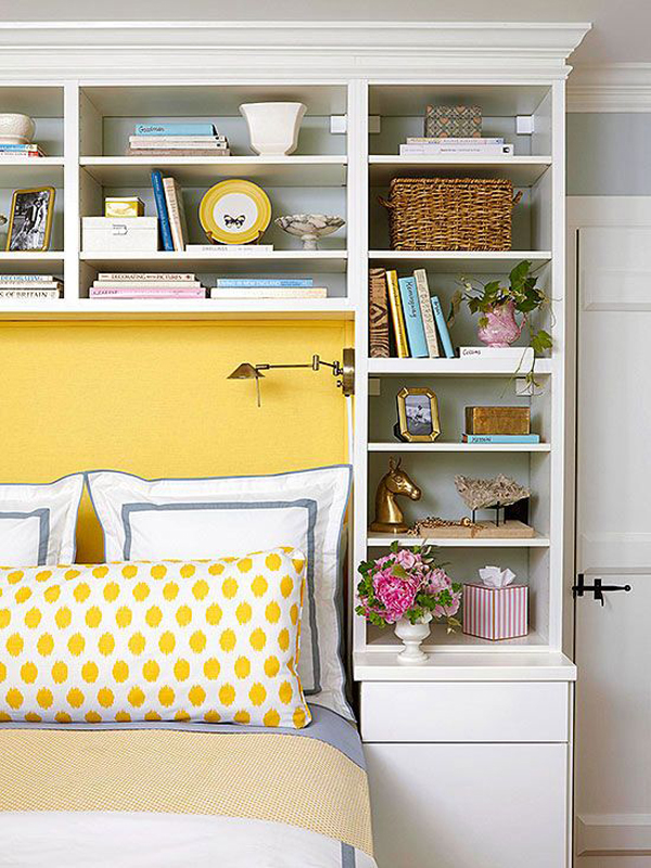 10 Small Bedroom With Headboard Storage Ideas | HomeMydesign