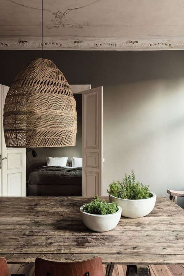 20 Basket Lighting Ideas With Natural Elements  Home