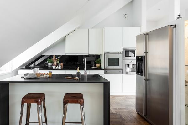 Exclusive Attic Apartment Design In Stockholm  Home Design And Interior