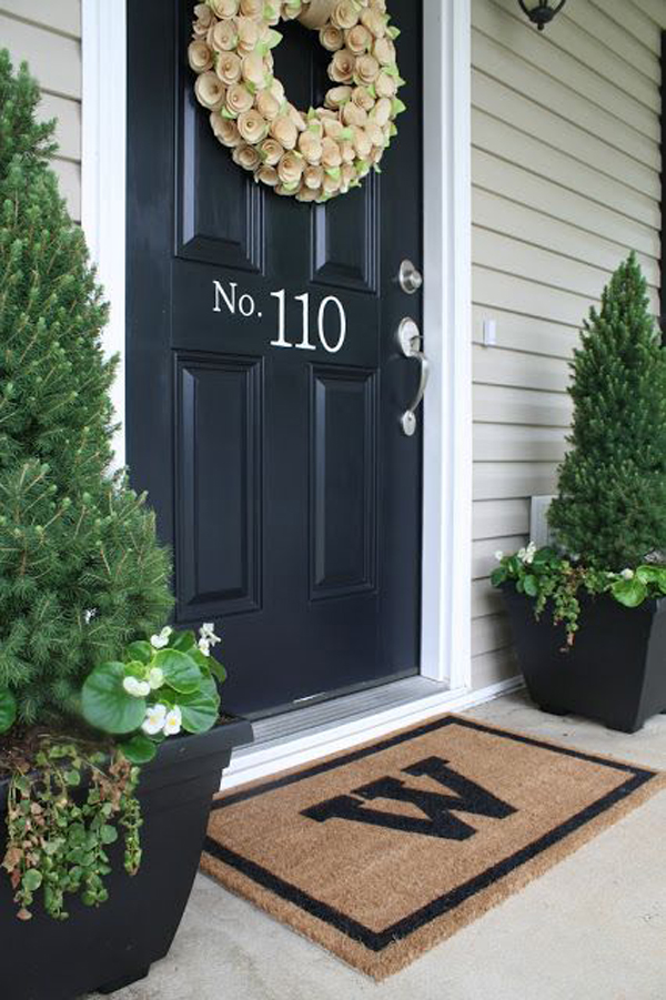 Door Paint House Number Ideas