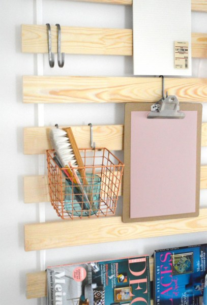 ikea kitchen hanging storage IKEA-bed-slats-wall-hanging-storage