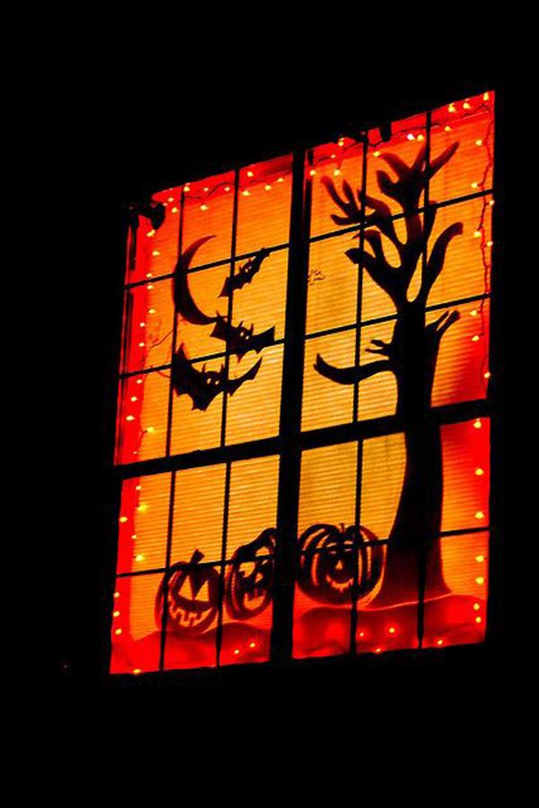 25 Scary Diy Halloween Window Silhouettes Homemydesign