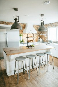 20 Minimalist Kitchens With Exposed Brick Walls   Home ...