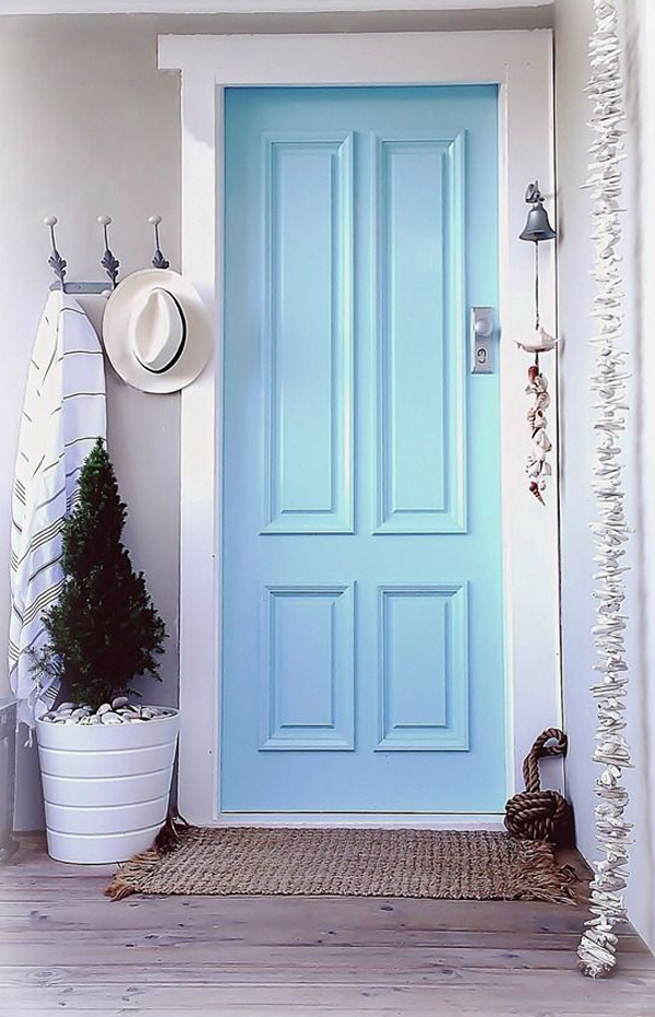 25 Eclectic Front Doors With Pastel Colors Home Design