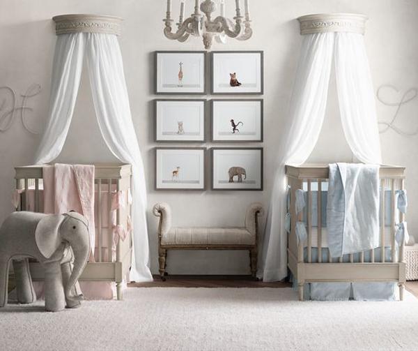 elegant twin nursery themes