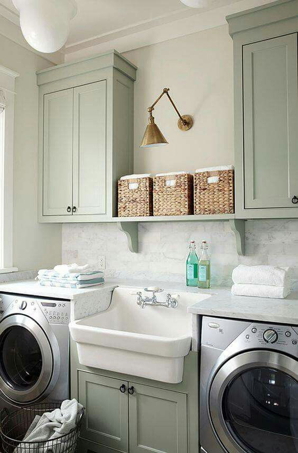 10 Most Awesome Laundry Room With Rustic Touches  Home Design And Interior