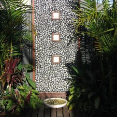 Kitchen Curtain Ideas White Cabinets 20 Tropical Outdoor Showers With Peaceful Feeling | Home ...