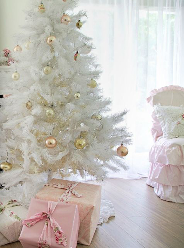 34 Neutral And Vintage White Christmas Tree Ideas Home Design And Interior