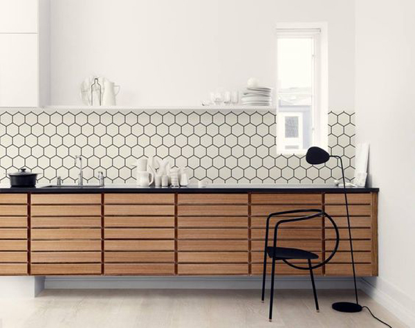 kitchen walls free cabinet design software 25 stylish hexagon tiles for and backsplashes obsigen