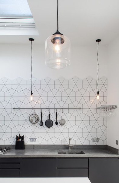hexagon tile kitchen backsplash 25 Stylish Hexagon Tiles For Kitchen Walls And Backsplashes | Home Design And Interior