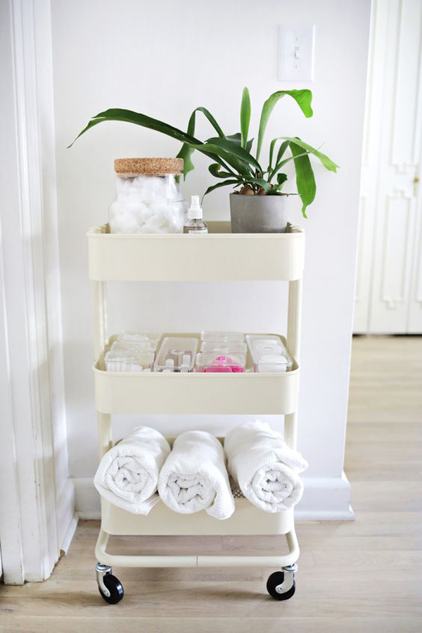8 Clever Ways To Use IKEA Raskog Cart For Narrow Space