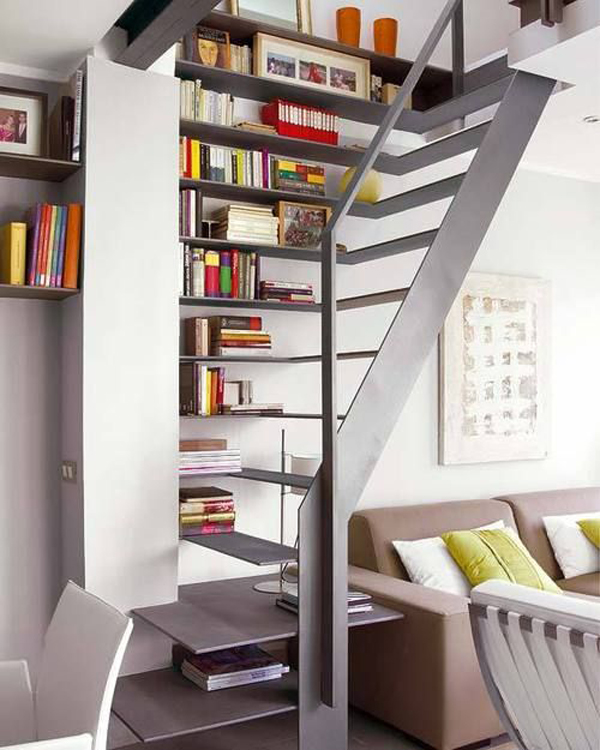 22 Cool Ways To Fill Your Stairs With Bookshelves Home