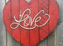 Images of Valentine Wood Crafts. Heart Love Wood Sign ...