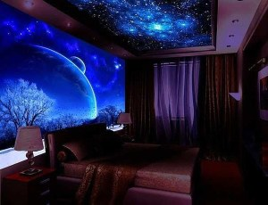 galaxy bedroom night cozy themes homemydesign tweet